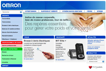 Staminic réalise le site web d'Omron Santé