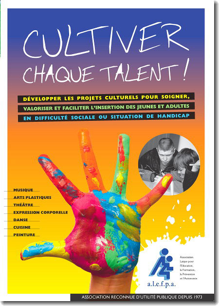Couverture du dpliant de promotion des projets culturels de l'ALEFPA