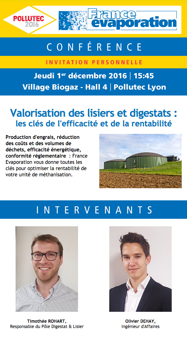 Emailing France Evaporation Pollutec 2016